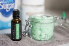 This amazing DIY peppermint coconut sugar scrub is the perfect thing to exfoliate your whole