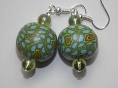 Green Splatter Earrings by EriniJewel on Etsy, $12.00