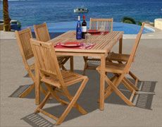 7-Pc Prague Teak Dining Set