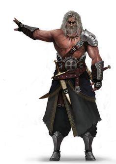 m Barbarian King wilderness hilvl ArtStation - Mercenary : Captain, Seok-Jae Jang Fantasy Male, Fantasy Warrior, Fantasy Rpg, Medieval Fantasy, Fantasy Artwork, Dark Fantasy, Warrior King, Dungeons And Dragons Characters, Dnd Characters