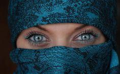 Exotic eyes | , beautiful, black, blue, blue eyes, covered, elegant, exotic, eyes ...