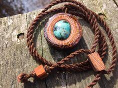 Turquoise pendant/ oak pendant/ shooting by OKAVARKpendants