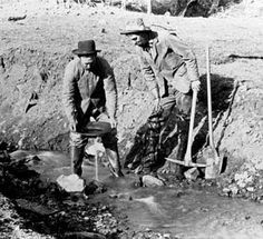 Gold miners combed the Rocky Mountains, including the slopes of Pikes Peak, during the first gold rush of 1859.