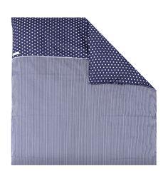 Kissenbezug blau mit weißen Sternen 80x80 cm