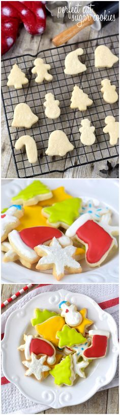 These Perfect Cut Sugar Cookies are soft, hold their shape, and are totally delicious!: