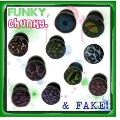 """""""Funky, Chunky and Fake!"""" by chaoticclothing-101 on Polyvore"""