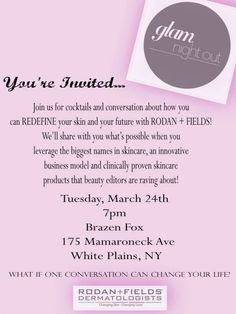 109 Best R F Invitations Bbl Images Rodan Fields Launch Party