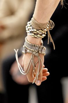 Roberto Cavalli ~ leather ~ gold ~ arm candy ~