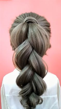 Cute Simple Hairstyles, Easy Hairstyles For Long Hair, Braids For Long Hair, Ponytail Hairstyles, Hair Up Styles, Natural Hair Styles, Hair Style Vedio, Long Hair Video, Hair Videos