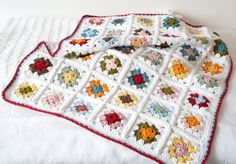 granny square baby blanket crochet pattern por LittleDoolally
