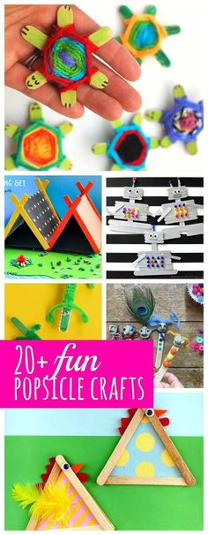 20+ awesomely cute and fun popsicle stick crafts