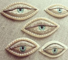 EYE BROOCHES BY AZUMI SAKATA