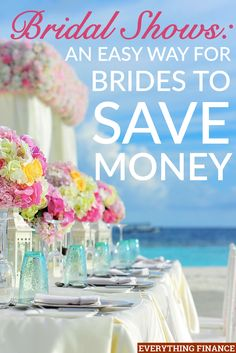 Bridal shows are an easy way to save money on your wedding. There are lots of ways to save money at bridal shows by getting freebies and discounts.