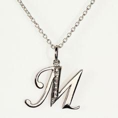 Alphabet Pendant http://www.jewelslane.com/diamond-alphabet-pendants-ap1M