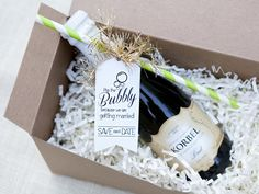 Pop the Bubbly | Wedding Save-the-Date and Engagement Announcement Idehttp://www.diynetwork.com/decorating/wedding-save-the-date-and-engagement-announcement-ideas/pictures/index.html?soc=pinterest>>