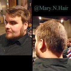 Men's haircut and a beard trim.  #saskatoon #yxehairstylist #saskatoonhair