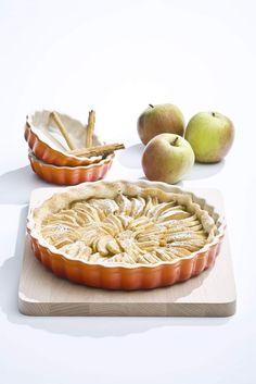 Frisch aus dem Ofen: Vorzügliche französische #Tartes, gebacken in der Tarteform von Le Creuset.