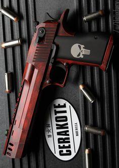 Custom Deadpool Desert Eagle Handgund Semi Auto Firearm that she got for Silvestre but uses sometimes.