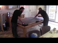 Often clients show a keen interest in seeing behind the scenes of a pool table installation. A collection of time-lapse style videos, sped up for easy viewing Diy Pool Table, Pool Table Dining Table, Pool Table Room, Dining Table Design, Pool Tables, Basement Bar Designs, Home Bar Designs, Basement Ideas, Dining Table With Storage
