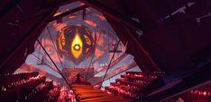 Fire god temple, Artem Cheshirsky on ArtStation at https://www.artstation.com/artwork/X6elY