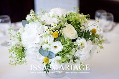 Heirbloom Design creates refined, romantic, garden-inspired floral arrangements along with thoughtfully curated event styling and planning for the modern, cosmopolitan couple. Grecian Wedding, Elegant Wedding, Floral Wedding, Wedding Bouquets, Blue Wedding, Wedding Bells, White Floral Arrangements, Floral Centerpieces, Flower Arrangements
