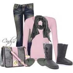 UGG Australia Bailey Button Triplet Boots by cindycook10 on Polyvore nice price for your holiday gifts! http://uggboots-onlinestore.blogspot.com/  $82.99  real high quality for ugg boots here