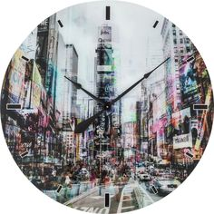 KARE Design This impressive wall clock brings a piece of New York into your home with its unique attitude. Life and movement are underlined by the optically distorted perspective. Kare Design, Times Square, Wall Clock Online, New York, City Chic, Beautiful Homes, Living Spaces, Urban, House