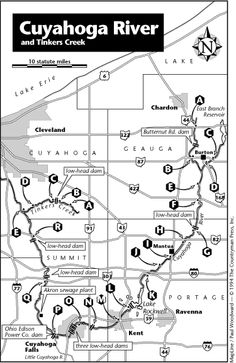 CUYAHOGA RIVER INFORMATION. Where to put in and take out