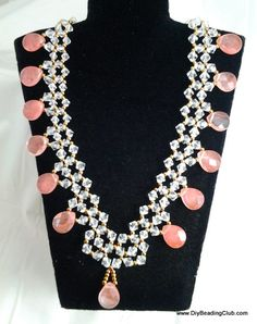Crystal Coral Necklace Beading Tutorial
