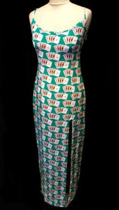 9742dc3df02e78 COCO-FENNELL-Green-Casino-Designer-Thigh-Split-Silk-Maxi-Dress-UK-10-BNWT-SALE.  V-Tique · Women s Designer Clothing