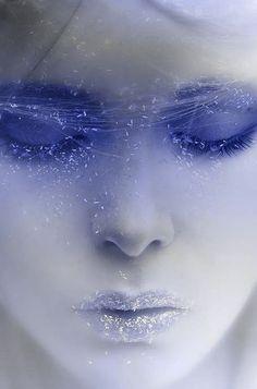Blue facial violet