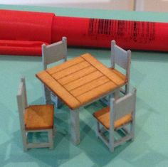 1/48 dolls house cottage table and chairs set