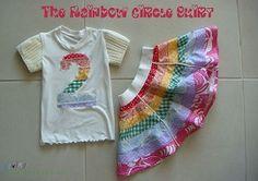 Tutorial: Little girl's pieced rainbow circle skirt with matching applique shirt   Sewing   CraftGossip.com