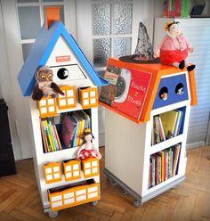 """Oddział Bajka-Wędrująca Szpitallna Biblioteka. mobilna biblioteka, 100 książek, """"magiczne"""" przedmioty w szufladkach,"""