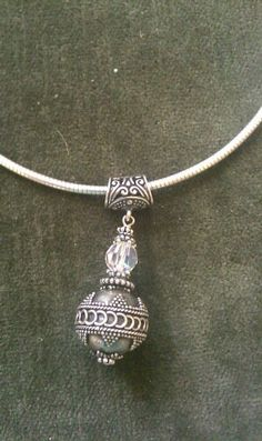 Bali/Crystal pendant