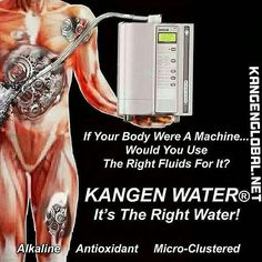 Regain perfect health and weight increase your energy levels and longevity improve your digestion and sleep quality by drinking alkaline Kangen water daily. Research shows tap water contains Fluoride and Chlorine. Bottled water gas NO health value as it is acidic. Start living the healthy life from today: http://kangenglobal.net #healthywealthy #kangenwaterspain #enagic #antioxidants #drhiromishinya