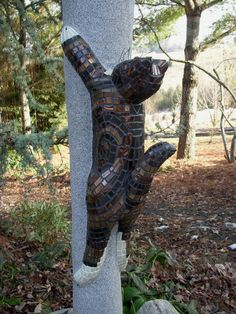 Mosaic cat added to 'Birds in Flight' post            #mosaic #mosaiccat #mosaicanimals