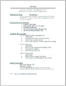 Resume Examples Housekeeping Hospital Samples Skills