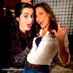 Constance Marie and Vanessa Marano look great on the set of Switched At Birth