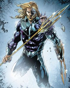 """therunningdude: """"Jason Momoa's Aquaman look and two of Aquaman's comic book looks. Pretty spot-on. """" Jason Momoa's Aquaman is based on Peter David's Aquaman from the 90s (which was also the basis for..."""