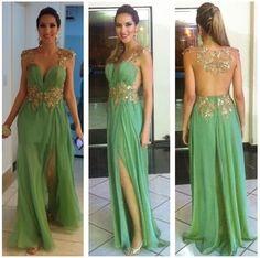 Custom Green prom dresses, Long Prom dresses, Backless Prom Dresses, Long Prom Dress, Backless Prom Dress, Sequin Prom Dress, Formal Dresses by DRESS, $177.00 USD