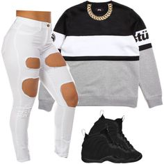 Untitled #496 by prettygirlnunu on Polyvore featuring Stussy, Club Manhattan and NIKE