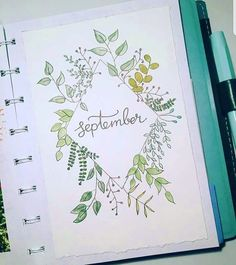 September Bullet Journal Ideas - Monthly Layout Spread - Cover Page - Setup Needing the perfect September bullet journal ideas? We have you covered with these gorgeous examples and our favorite plan with me videos. Bullet Journal September Cover, Bullet Journal Monthly Spread, Bullet Journal Cover Page, Bullet Journal 2019, Bullet Journal Notebook, Bullet Journal Ideas Pages, Bullet Journal Inspiration, Journal Covers, How To Start A Bullet Journal