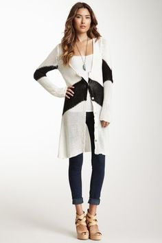 Oversized Knit Cardigan Wrap
