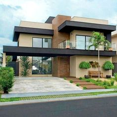 Best House Modern Family Ideas house is part of Facade house - Dream House Exterior, Dream House Plans, Exterior House Colors, Modern House Plans, Modern Family House, Bungalow House Design, House Front Design, Modern House Design, Modern House Colors