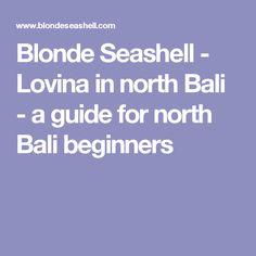 Blonde Seashell - Lovina in north Bali - a guide for north Bali beginners
