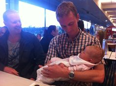 Ash (left) and Henry, with Ash's newborn daughter Jade, some time in November 2011 before Ash headed overseas on posting. This was the last time Ash and I met up.