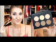 ▶ Contour/Highlight TUTORIAL & REVIEW- Anastasia Contour Kit - YouTube