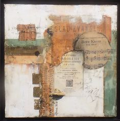 Michelle Belto - Portfolio of Works: Collecting Memories Music Collage, Paper Collage Art, Collage Art Mixed Media, Paper Art, Collage Artwork, Art Journal Inspiration, Painting Inspiration, Encaustic Painting, Assemblage Art