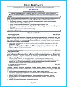 Senior Accounting Professional Resume Example  Accounting
